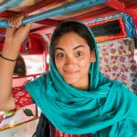 One year of solo female travel - Alex in a rickshaw in Hala, Pakistan - Lost With Purpose travel blog