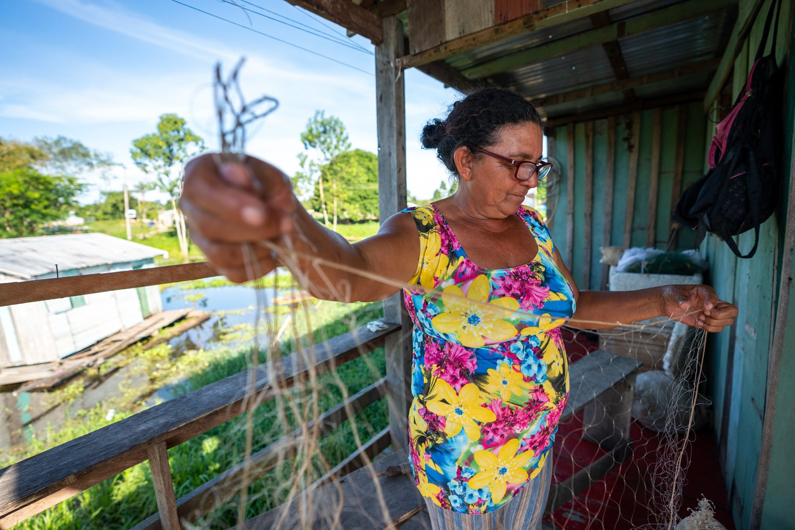 Reflections - Naiva fisherwoman in Murutinga, Amazonas, Brazil - Lost With Purpose travel blog