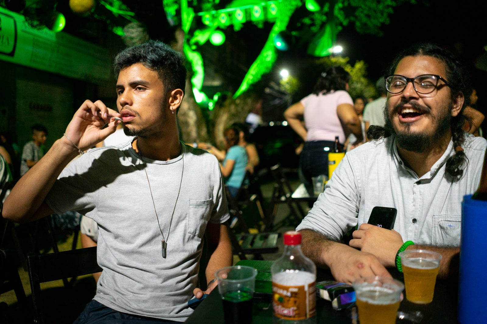 Reflections - Beers and singing at an outdoors bar in Manaus, Amazonas, Brazil - Lost With Purpose travel blog
