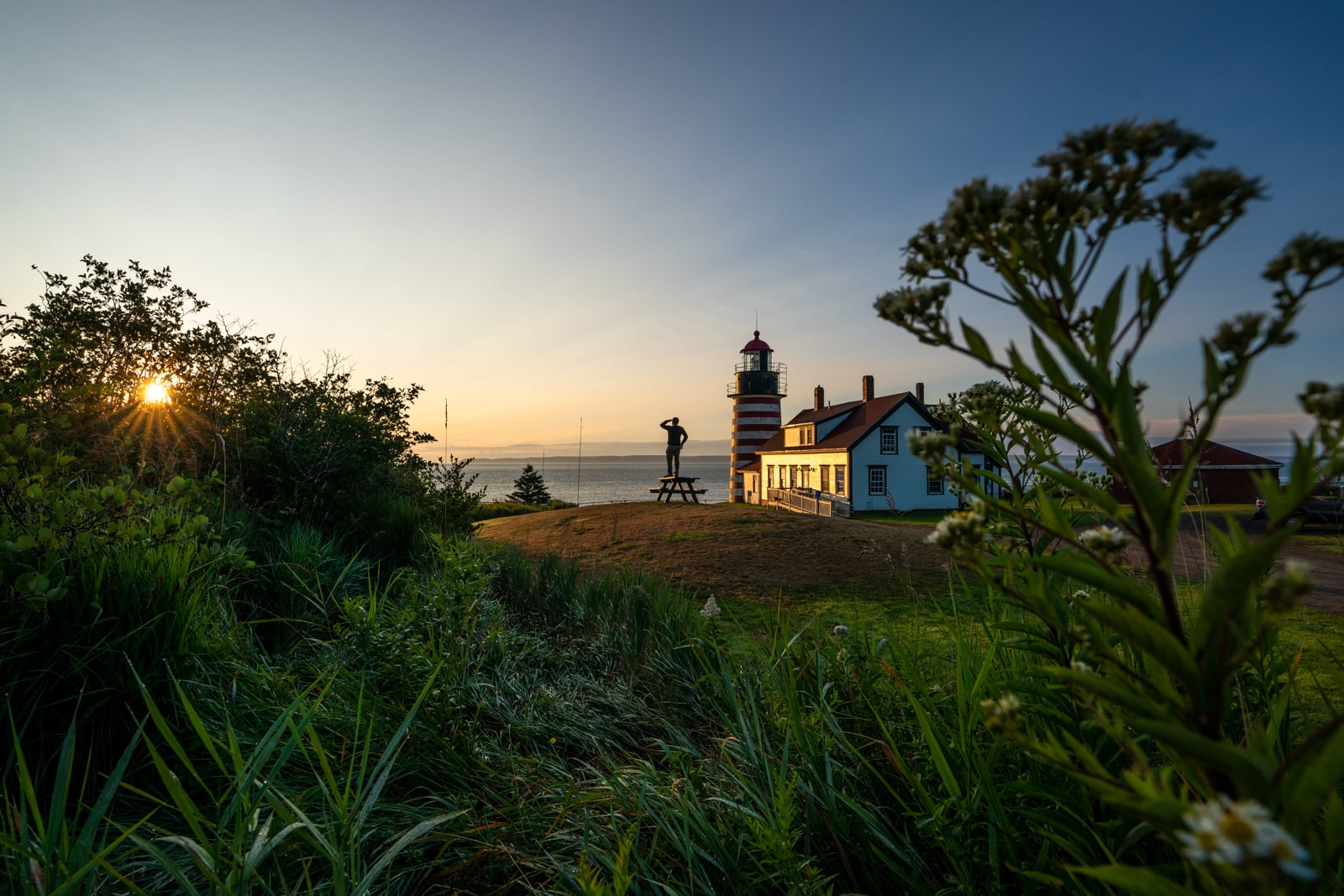Watching sunrise at the West Quoddy Head lighthouse in Lubec, Maine - Lost With Purpose travel blog