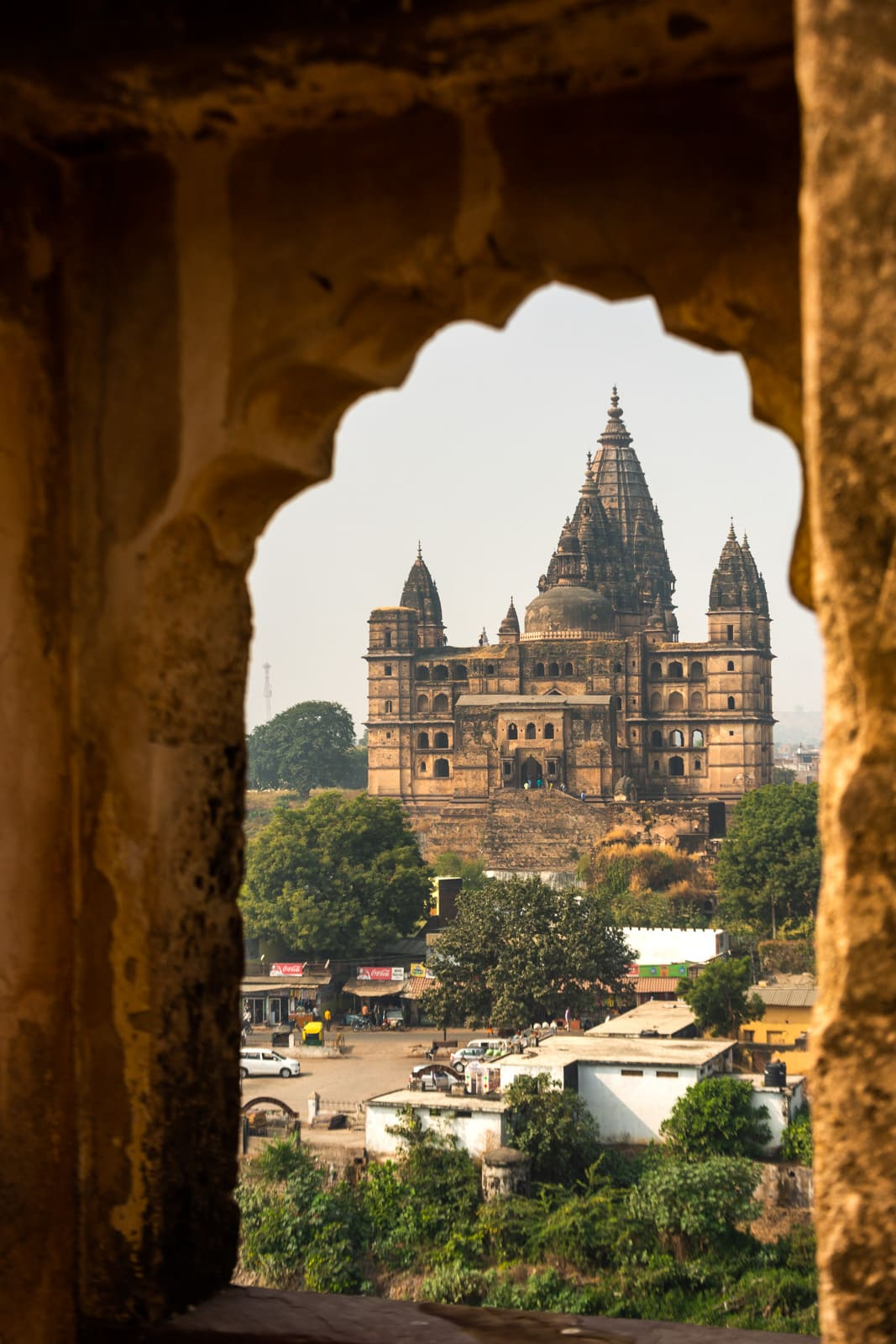 Chaturbhuj Temple seen from Raja Mahal - A quick guide to travel in Orchha - Lost with Purpose travel blog