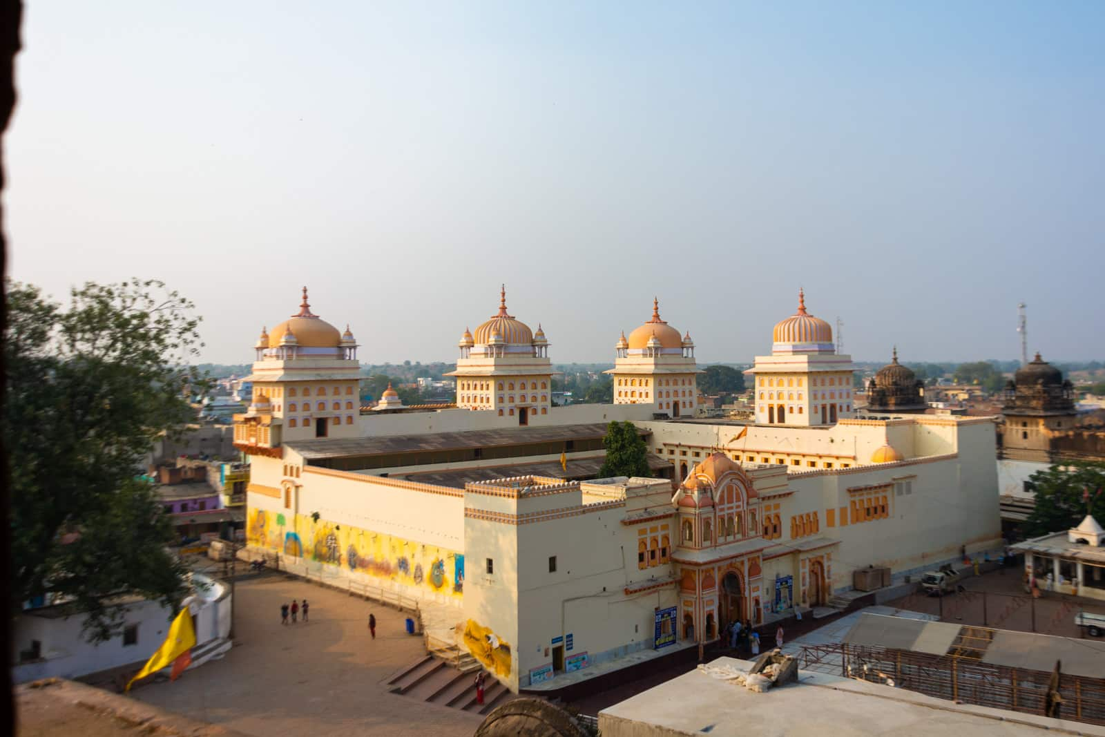 Ram Raja temple from above - A quick guide to travel in Orchha - Lost with Purpose travel blog