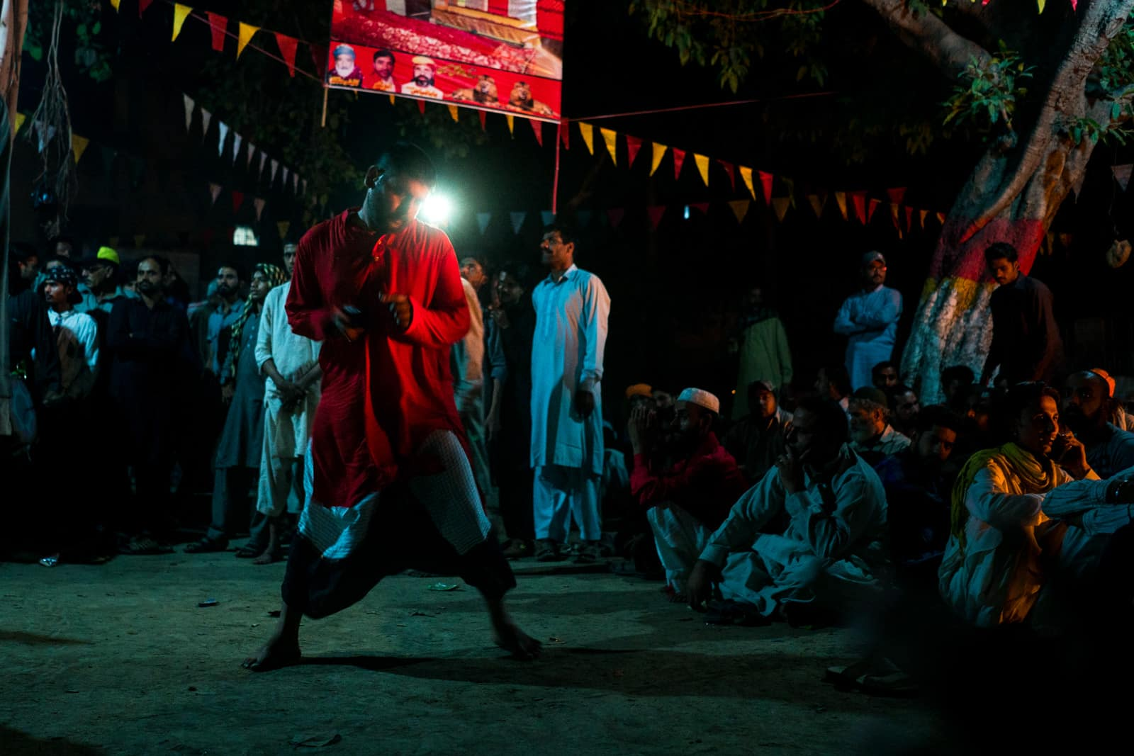 Sufi dhamal in Lahore, Pakistan - Man dancing at Madhu Lal Hussain shrine on Thursday - Lost With Purpose travel blog