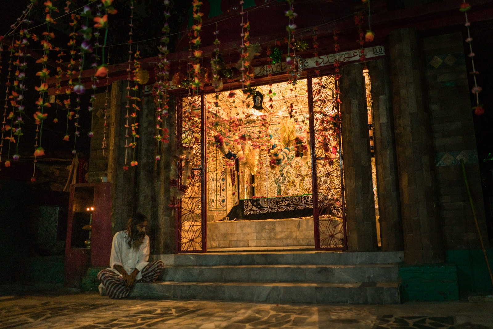 Sufi dhamal in Lahore, Pakistan - Shah Jamal shrine at night - Lost With Purpose travel blog