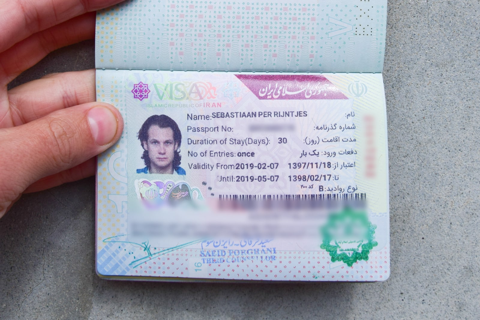 Applying for an Iran tourist visa in Islamabad, Pakistan