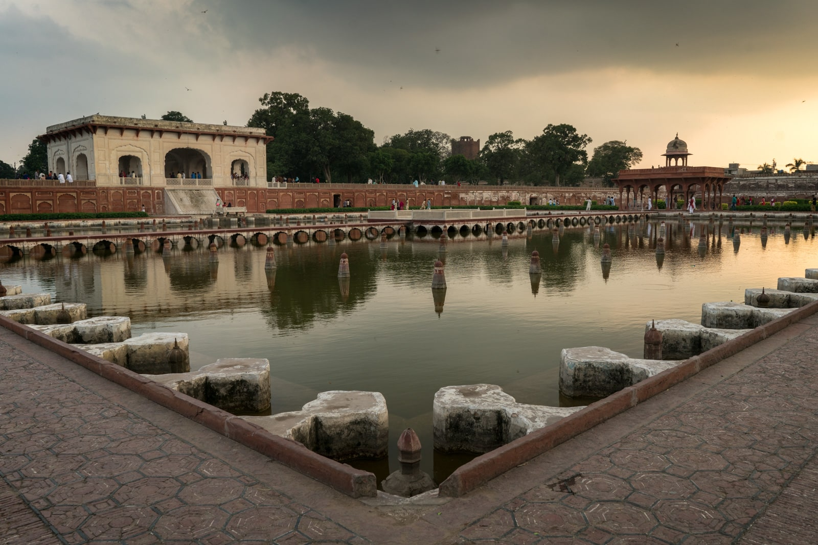 Unique things to do in Lahore - Sunset over Shalimar Gardens, Mughal gardens in Lahore, Pakistan