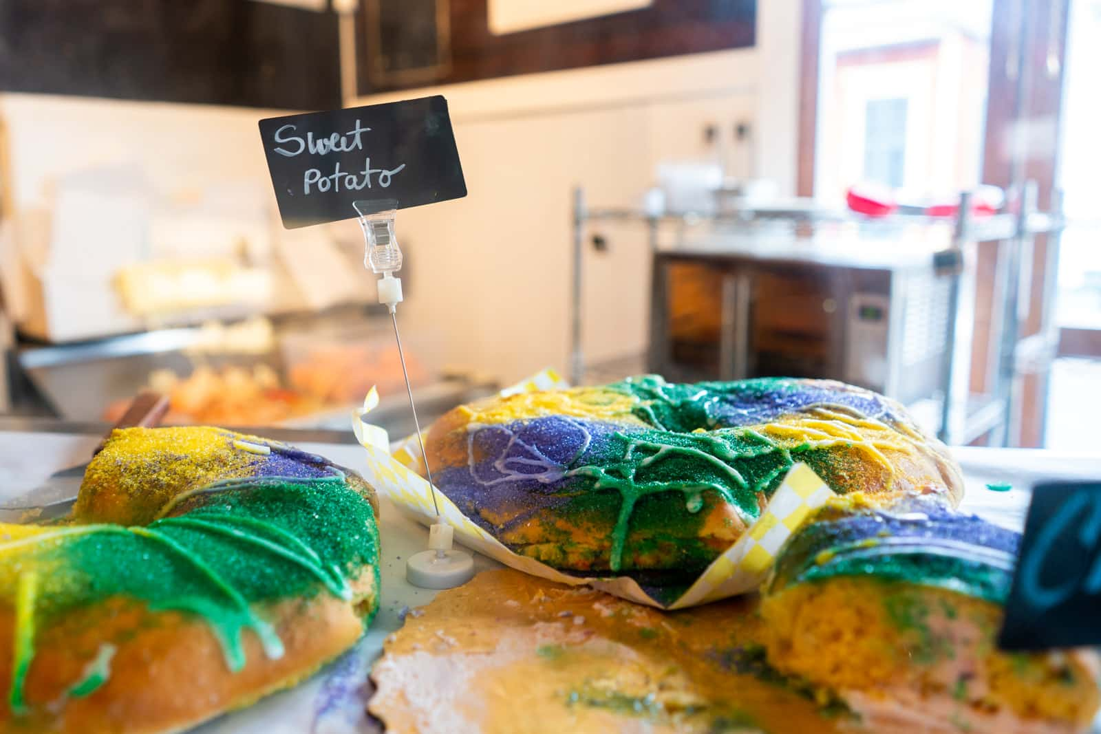 Sweet potato king cake at Bywater Bakery in New Orleans