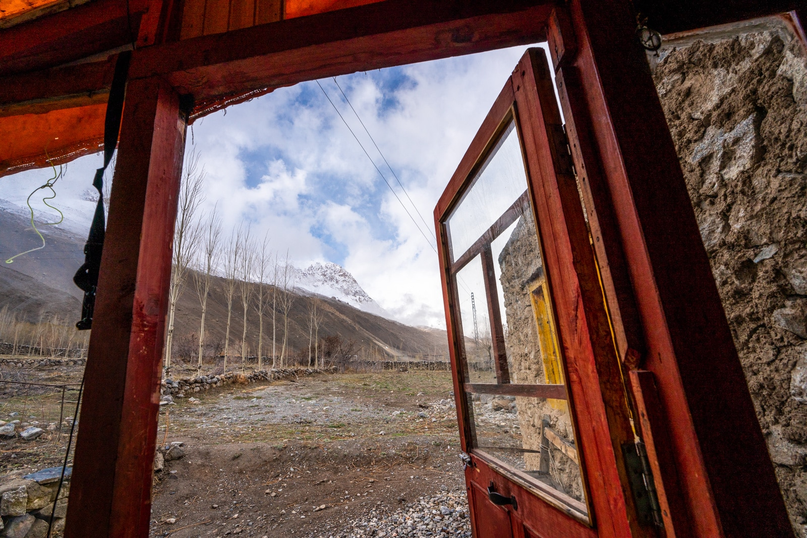 View from Pamir Serai guesthouse in Chapursan Valley