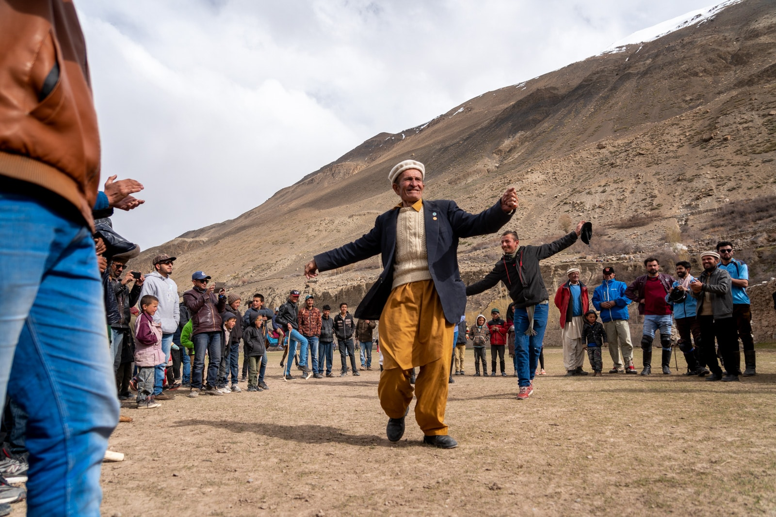 Local man dancing after a polo match in Ispanj village of Chapursan Valley
