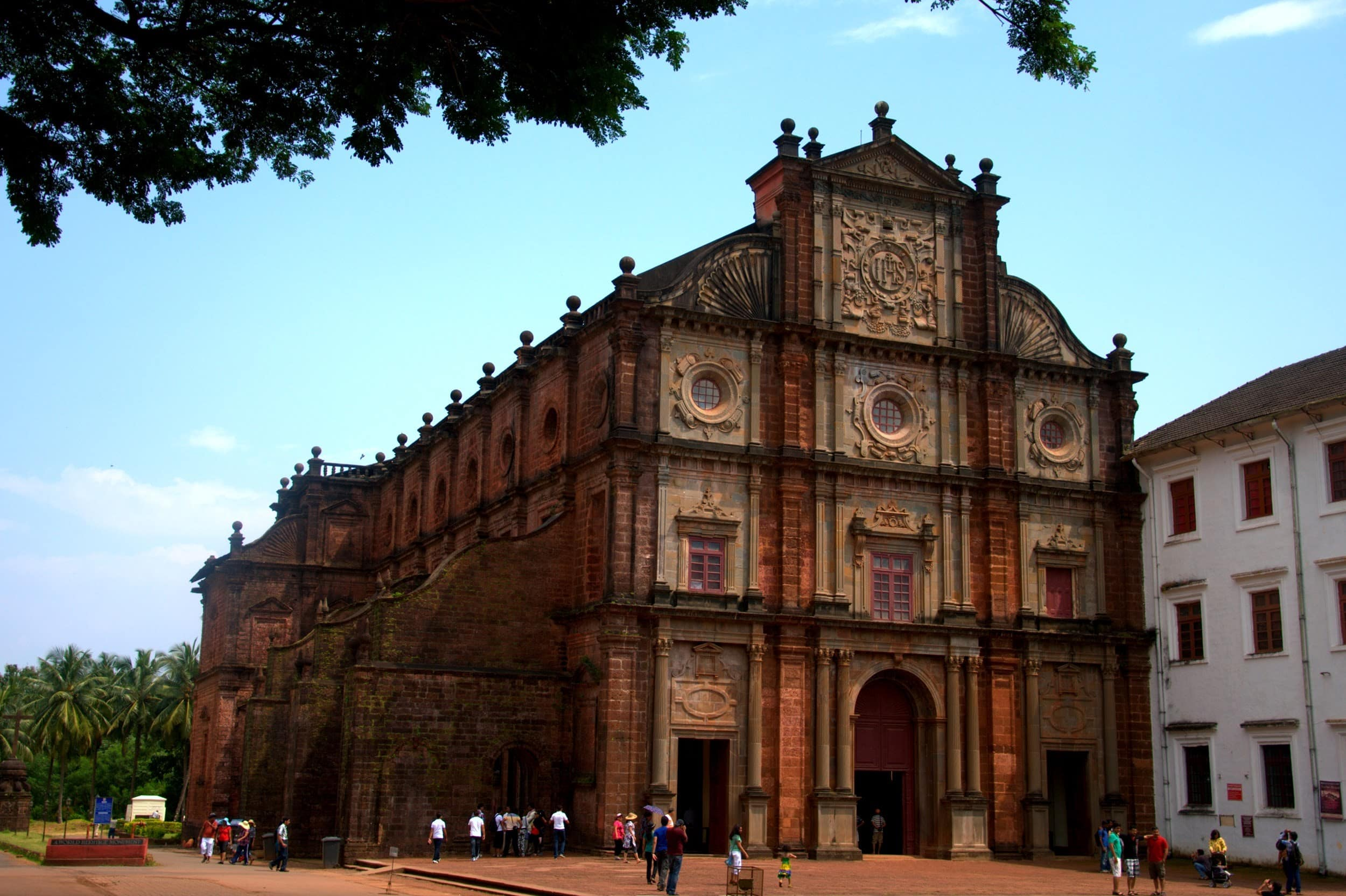 The Basilica of Bom Jesus from the outside.