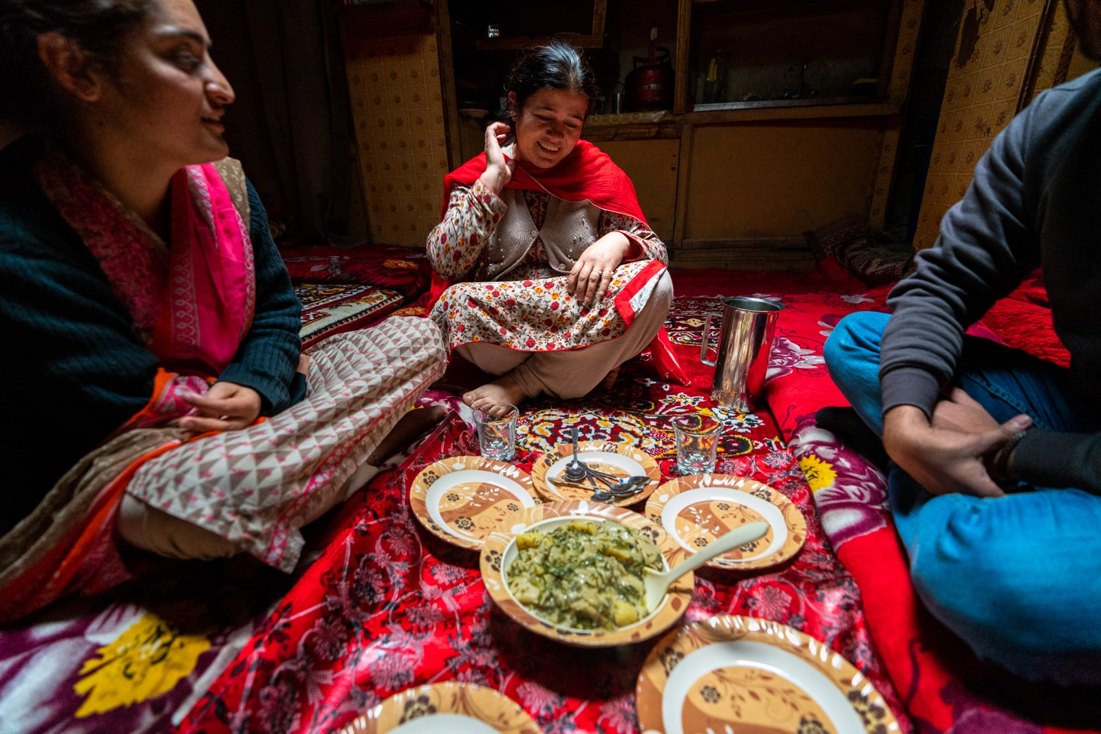 Lunch with a homestay host in Altit, Pakistan