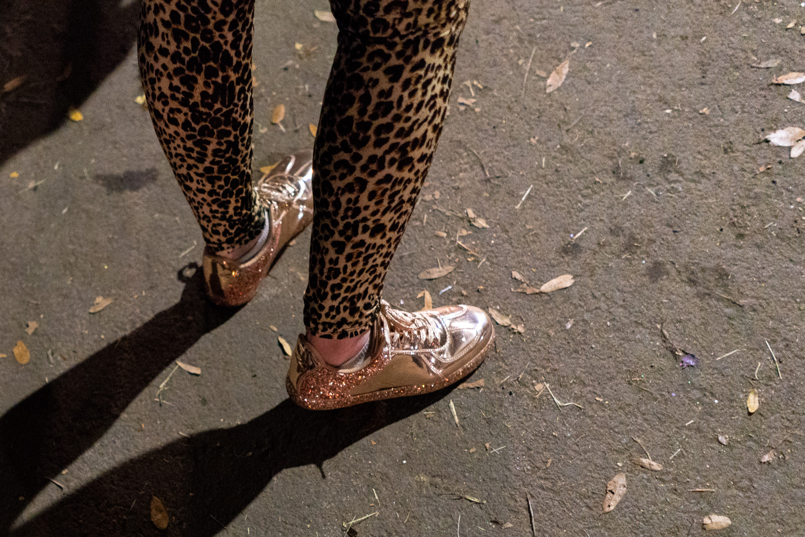 Leopard leggings during Mardi Gras in New Orleans
