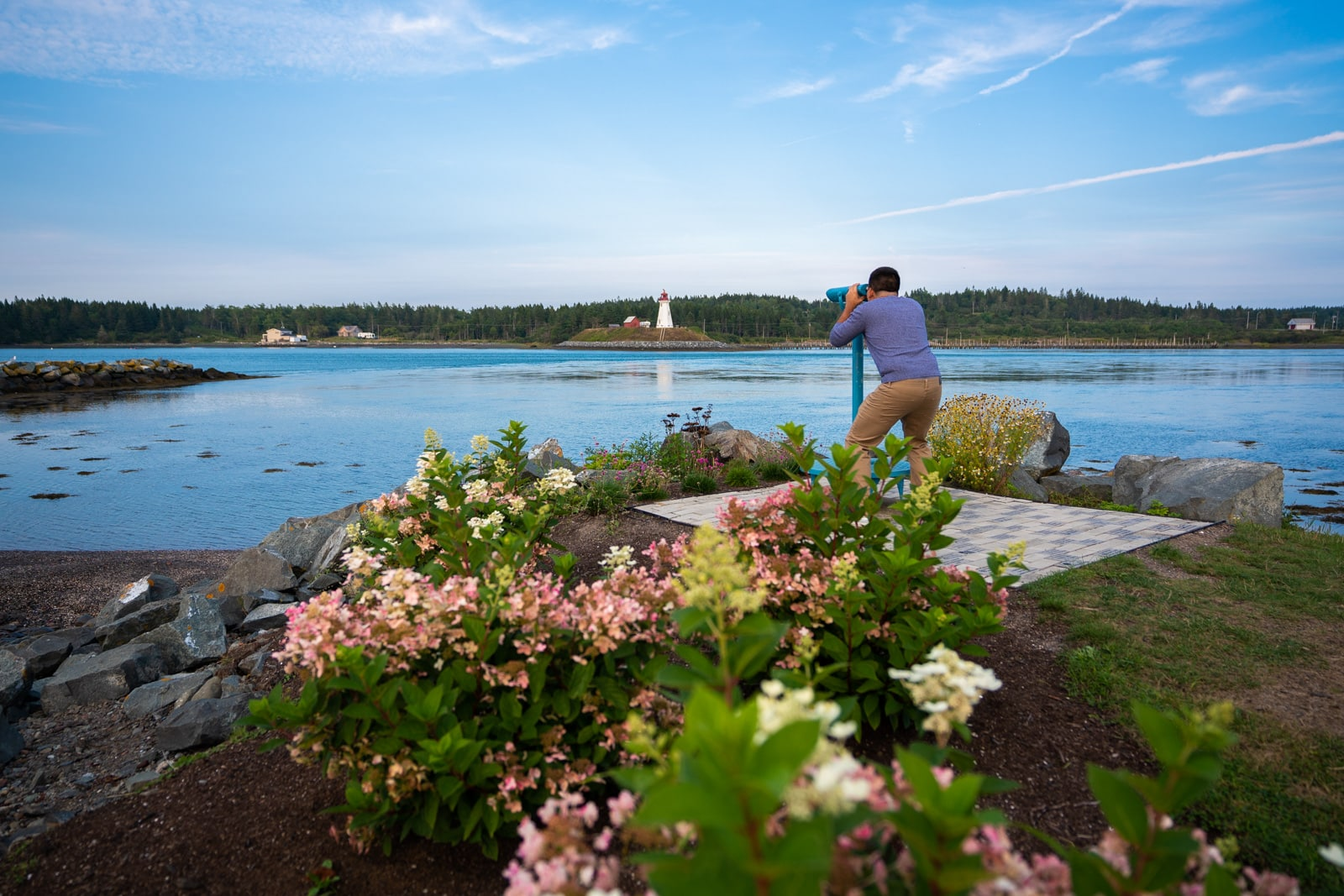 Views of water from Lubec, Maine