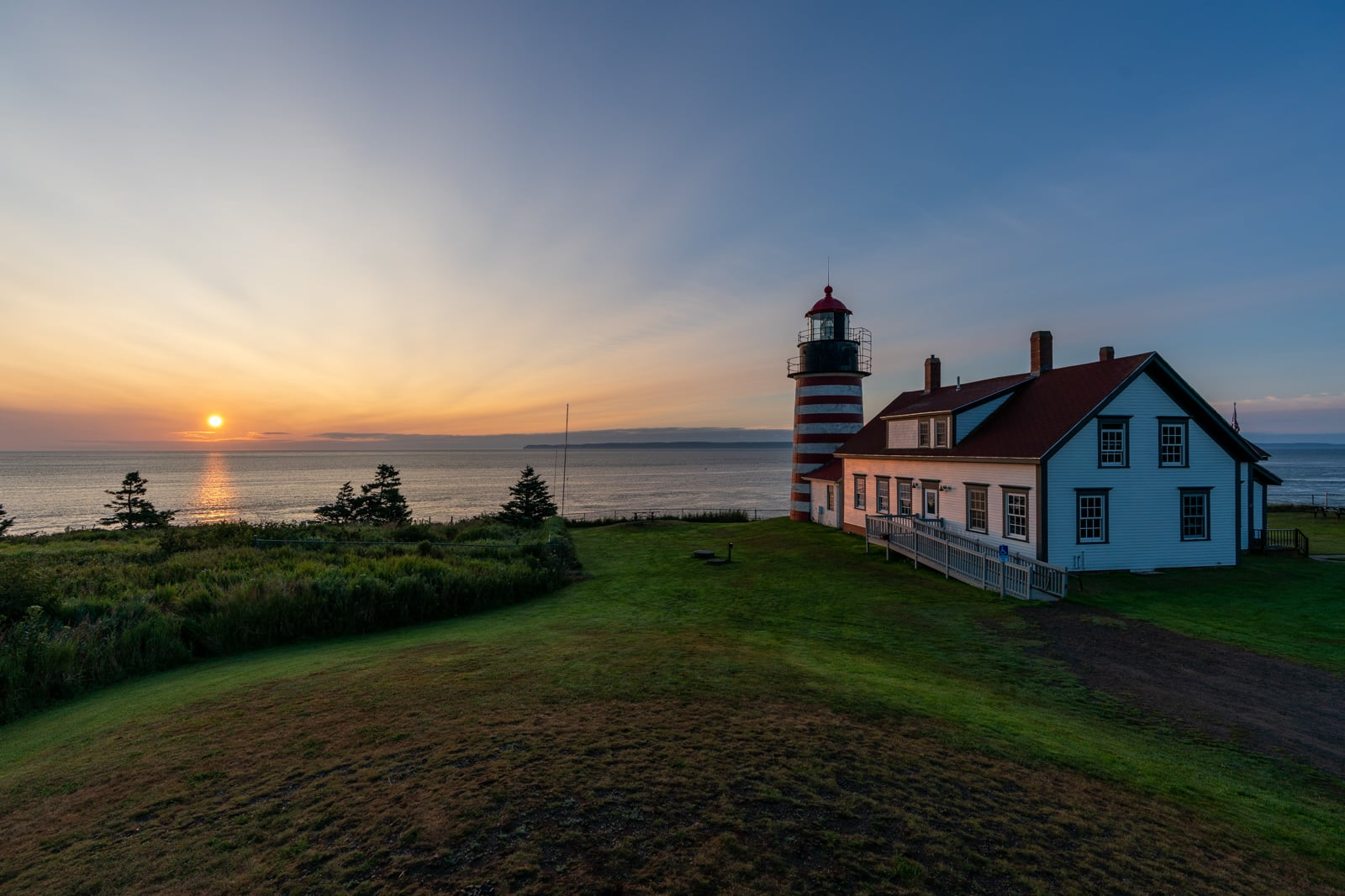 Sunrise at West Quoddy Head Lighthouse in Lubec, Maine