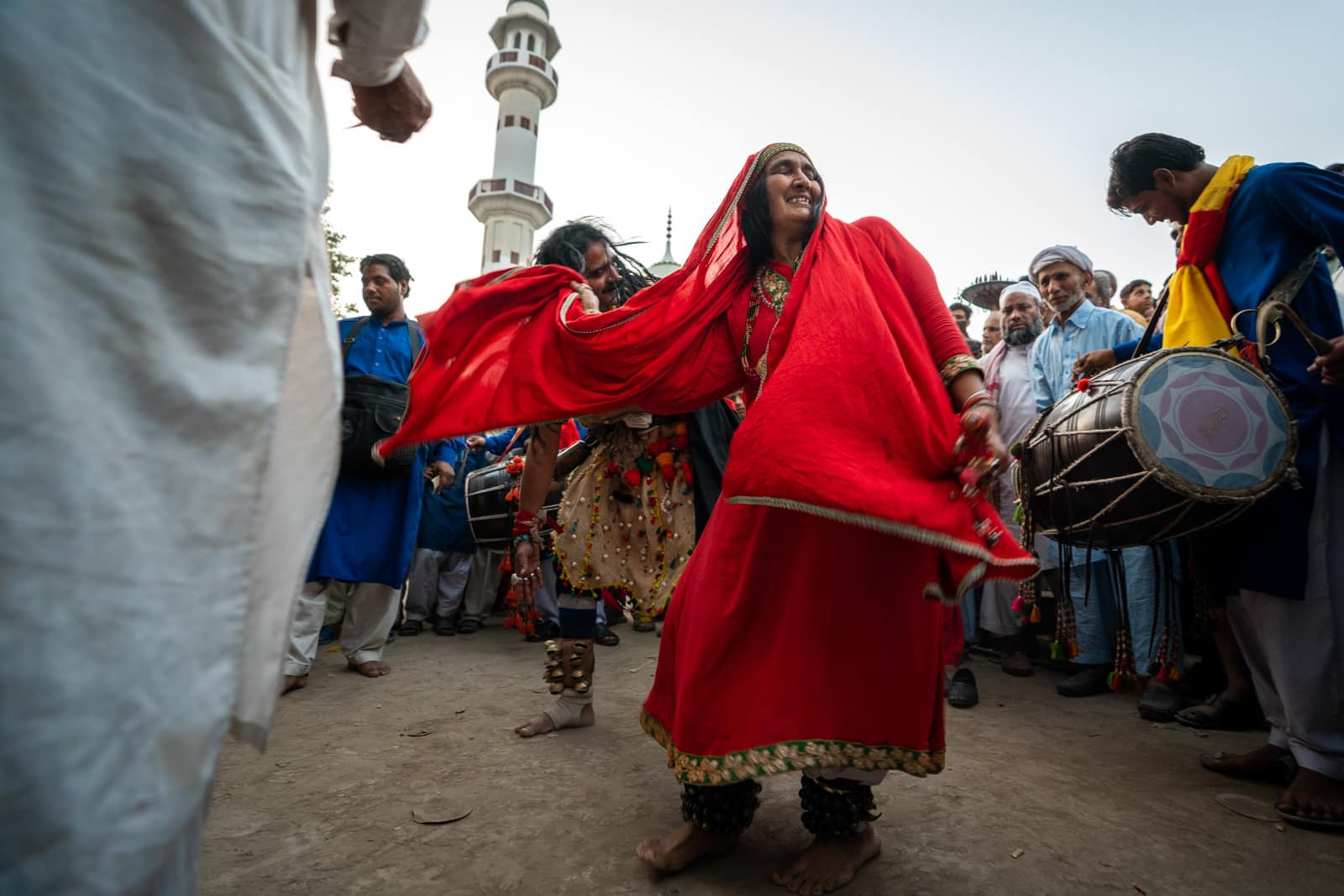 Female malang dancing at the urs of Madhu Lal Hussain in Lahore