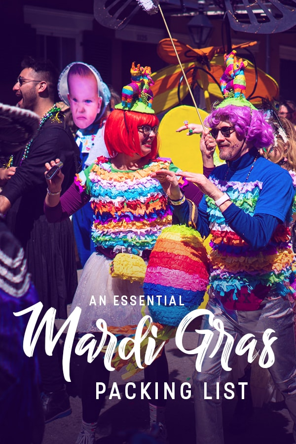 Heading to New Orleans for Mardi Gras? Don't get caught unprepared! Mardi Gras in New Orleans is like no other event, and this list has everything you need to survive the holiday... and do so in style. Click through to check out the ultimate Mardi Gras packing list!