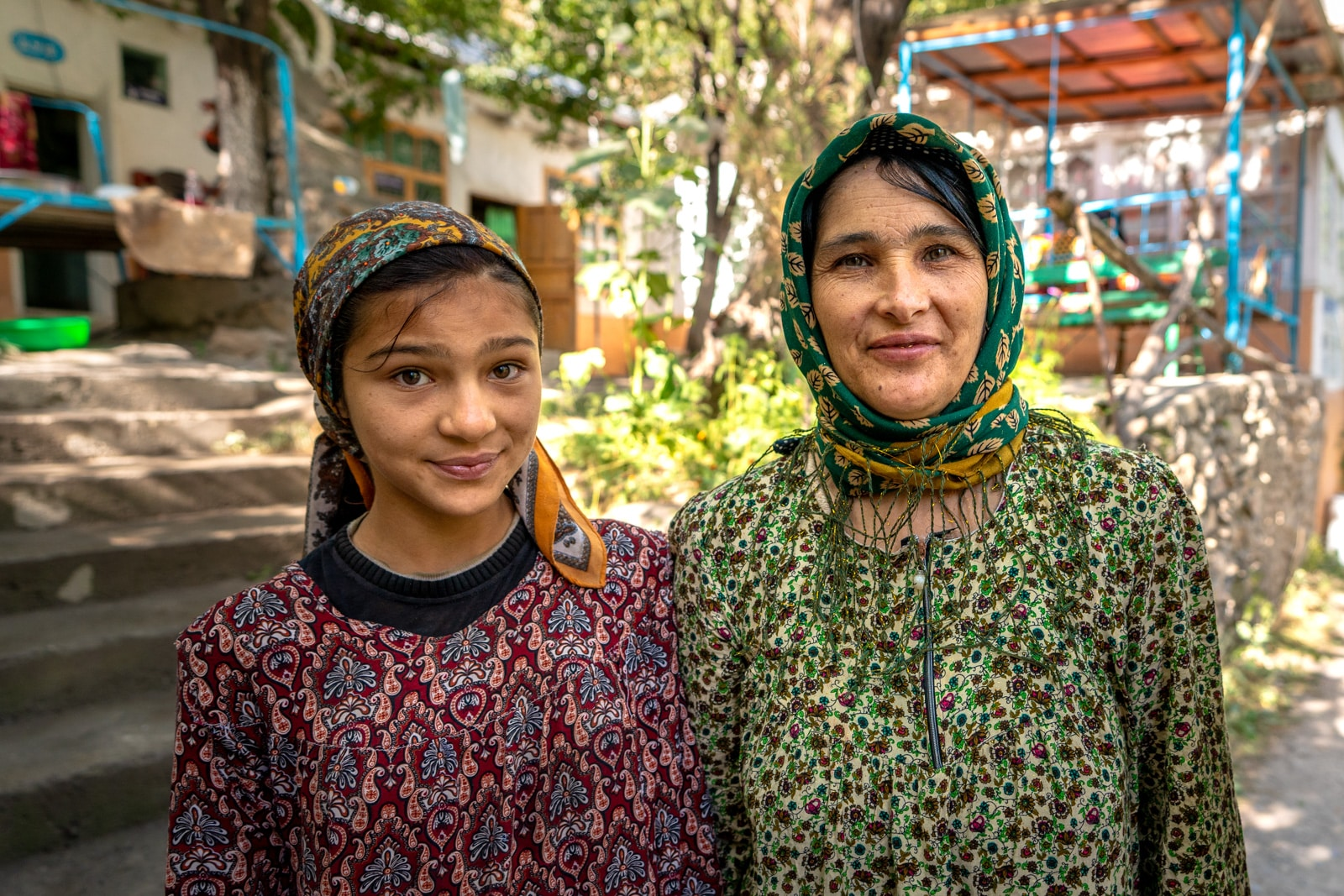 Friendly women at a homestay in Haft Kol, Tajikistan