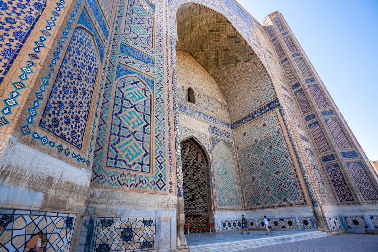 Exterior of the Bibi Khanum mosque in Samarkand, Uzbekistan