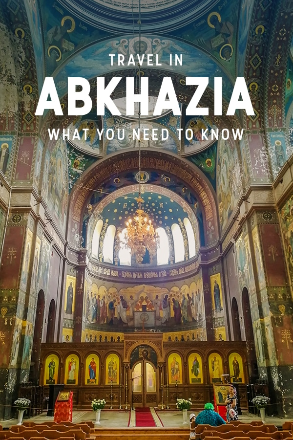 Pinterest pin for Abkhazia travel guide