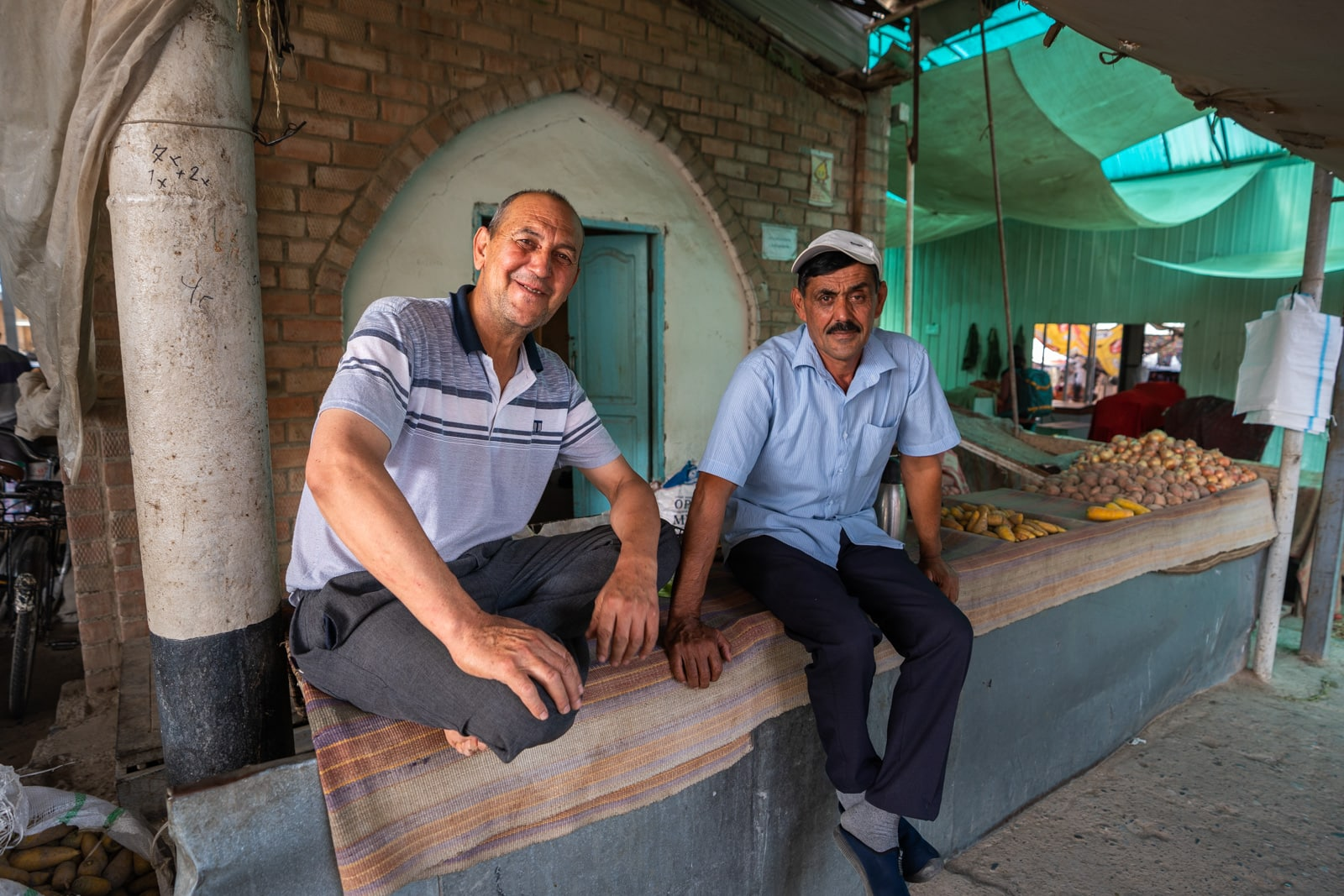 Friendly men in Panjakent, Tajikistan