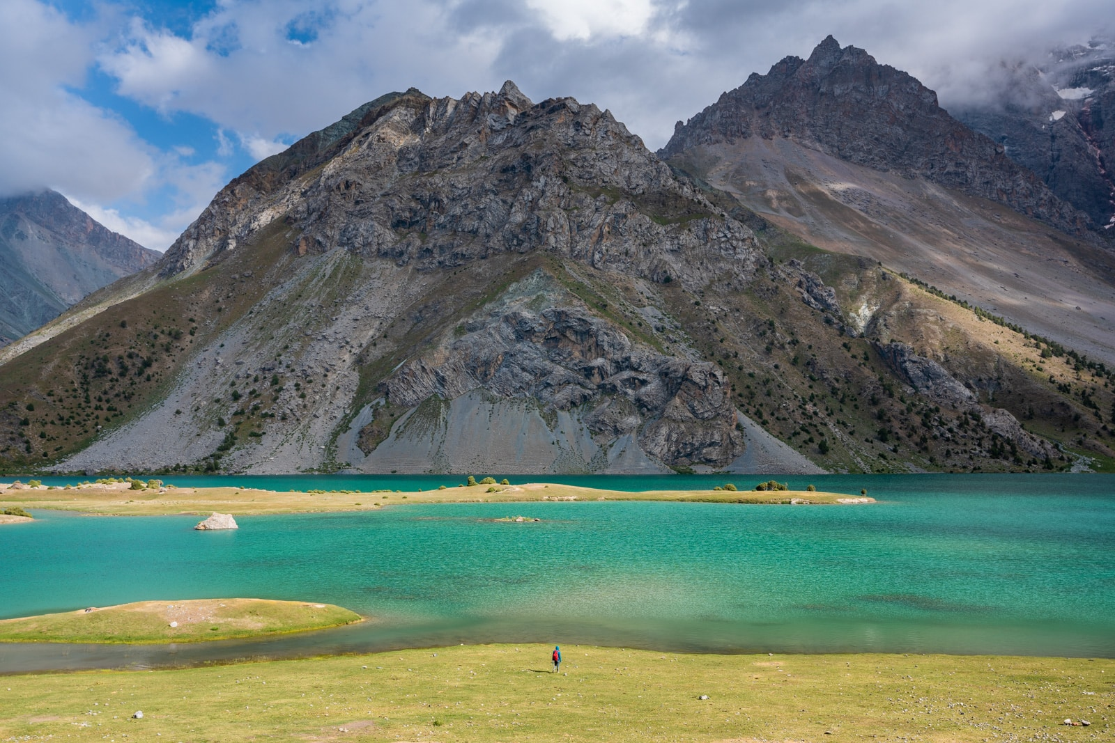 Man standing next to Kulikalon Lake in Tajkistan