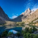 Early morning over Alauddin Lake in Western Tajikistan