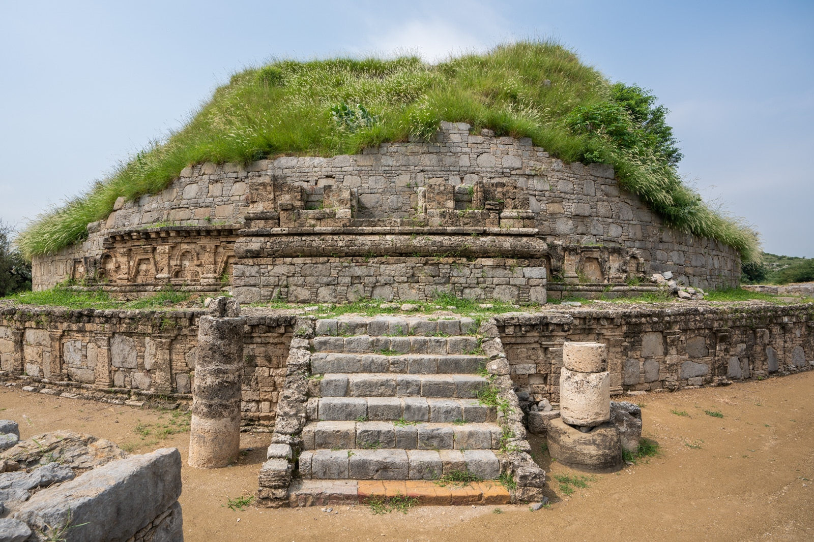 Ruins of a Buddhist stupa at Taxila near Islamabad, Pakistan