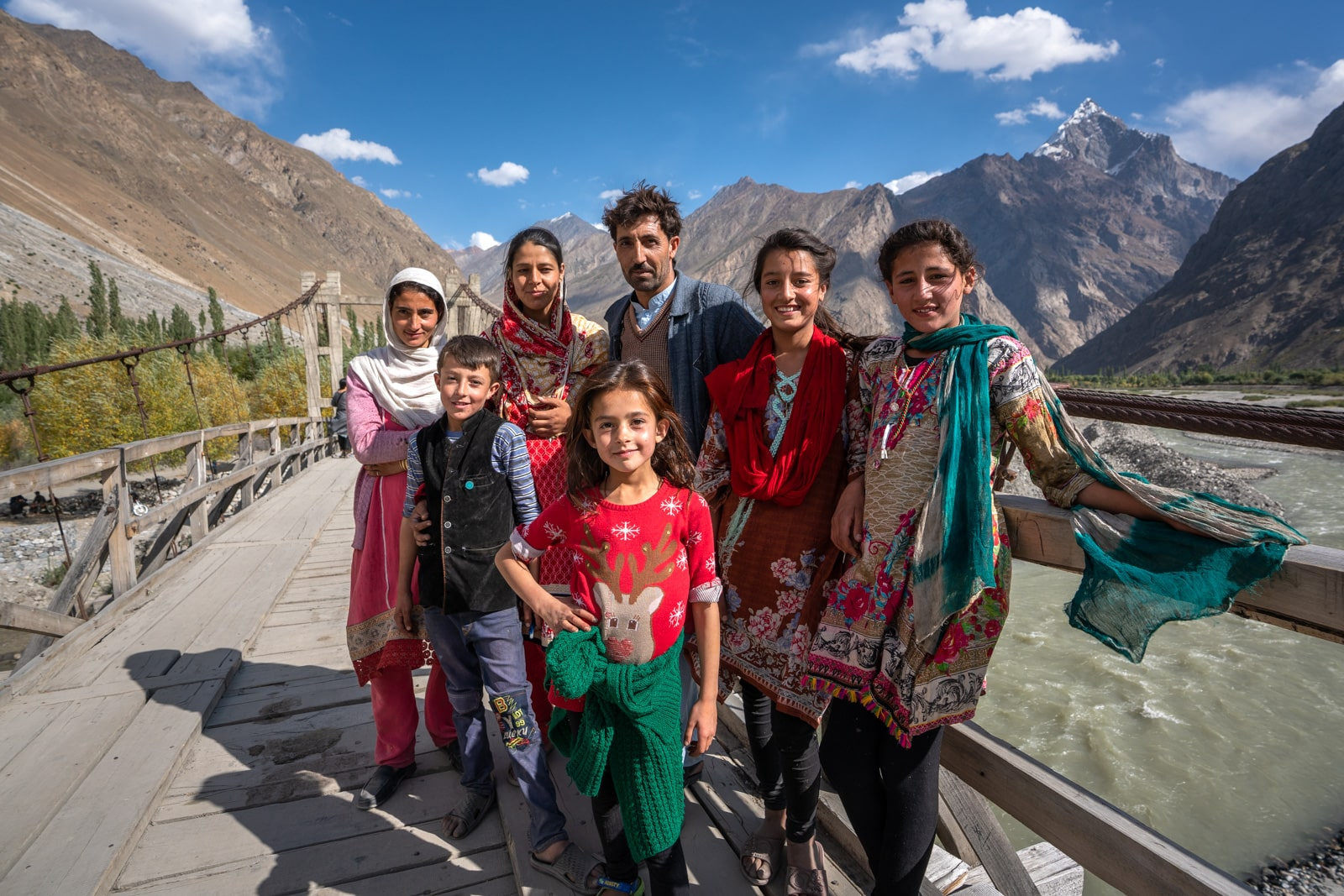Local family in Darkot, Pakistan