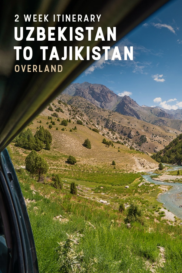 Want to travel in Central Asia, but not sure where to start? This overland two week itinerary for Uzbekistan and Tajikistan is the perfect starting point for backpackers and travelers alike looking for the best introduction to Central Asia and the Silk Road. Click through for travel times, travel tips, transportation, and best places to visit in Uzbekistan and Tajikistan.