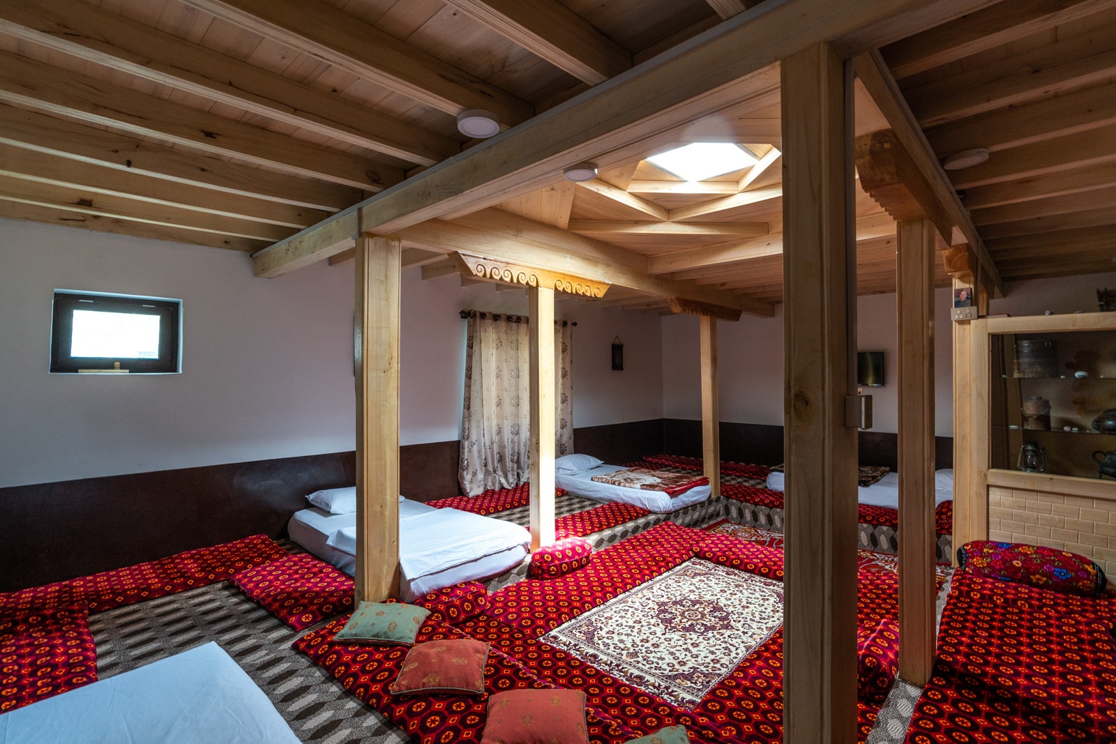 Shared sleeping place in a Gulmit homestay in Pakistan