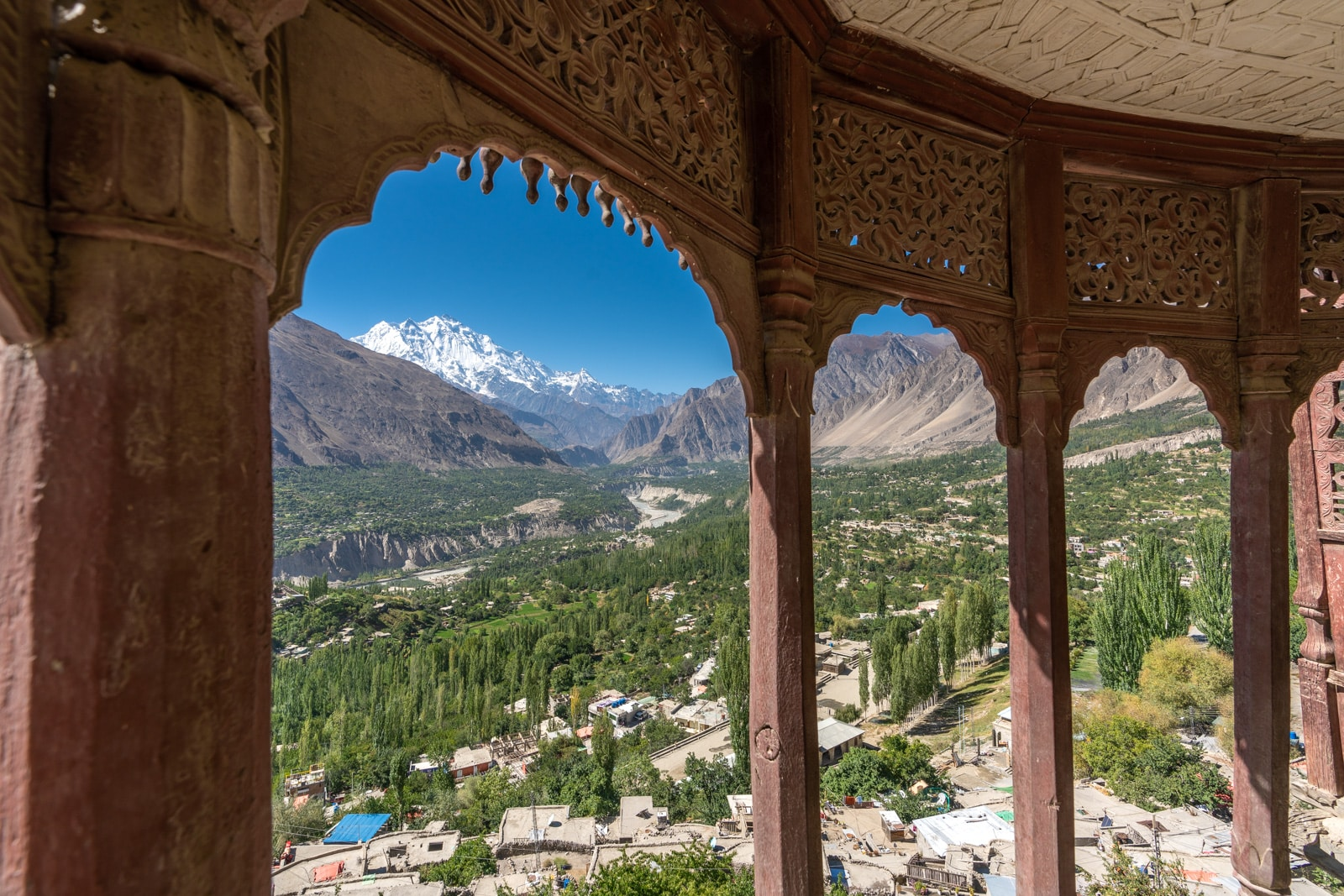 View of Karimabad from Baltit Fort in Hunza, Pakistan