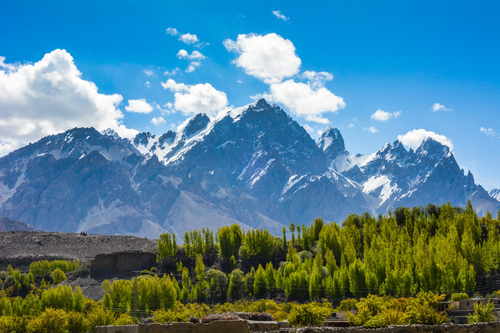 Snowy mountains around Shimshal