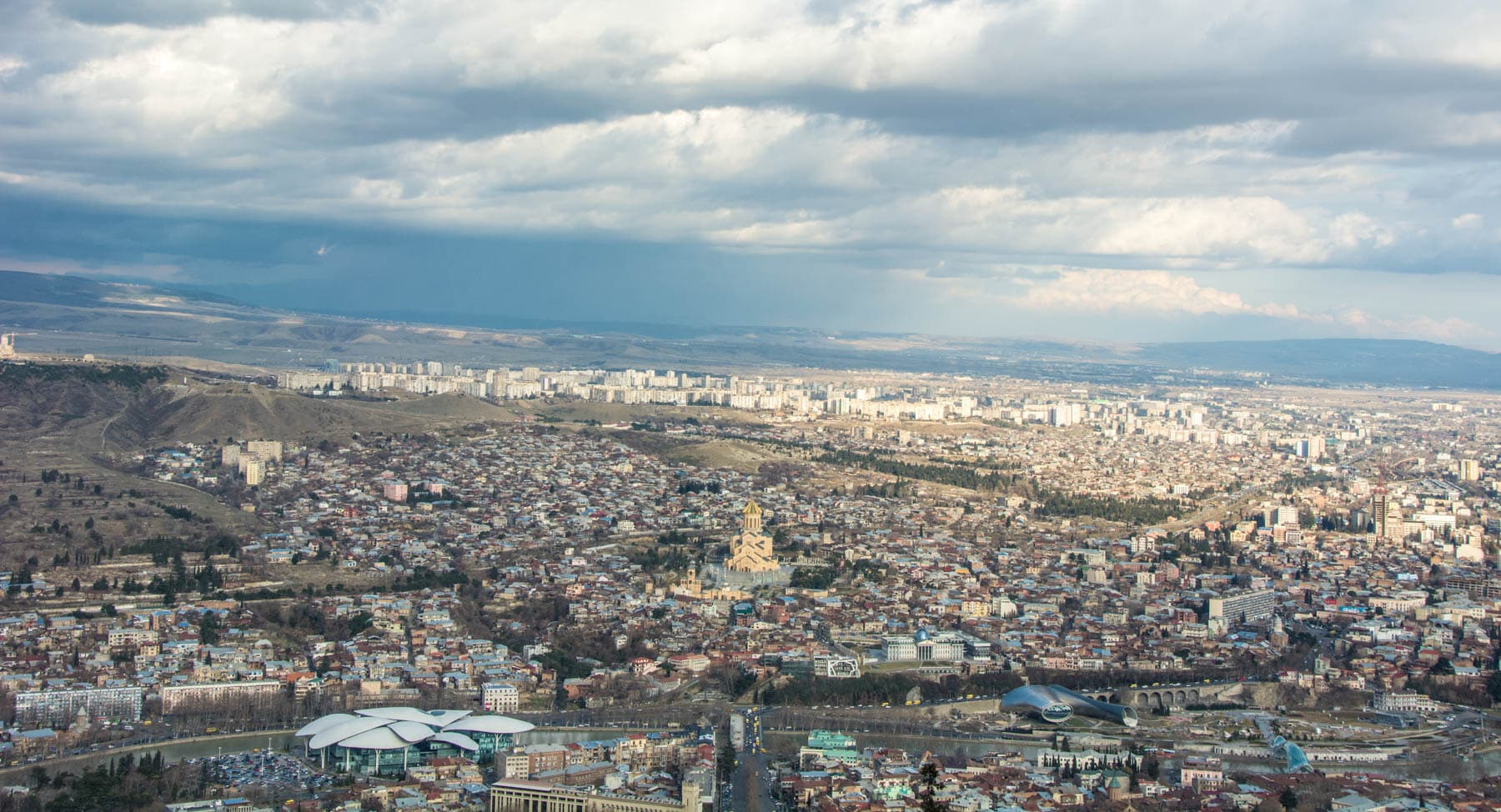 Tbilisi, Georgia from above