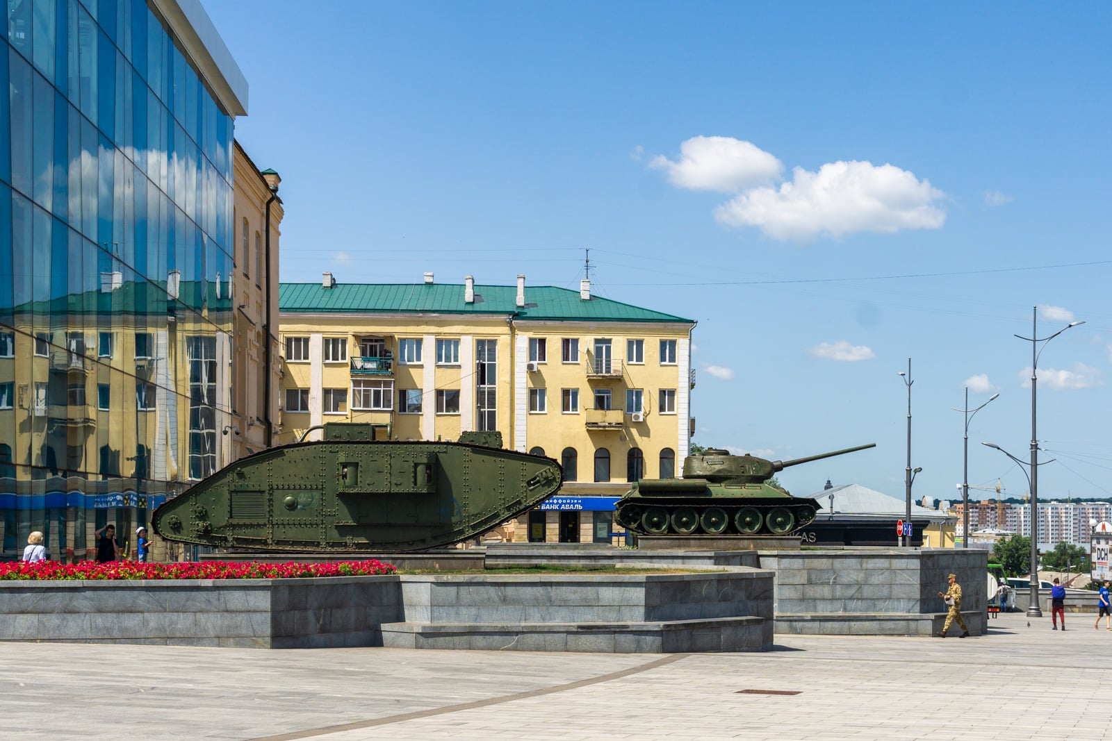 Tanks in Kharkiv, Ukraine