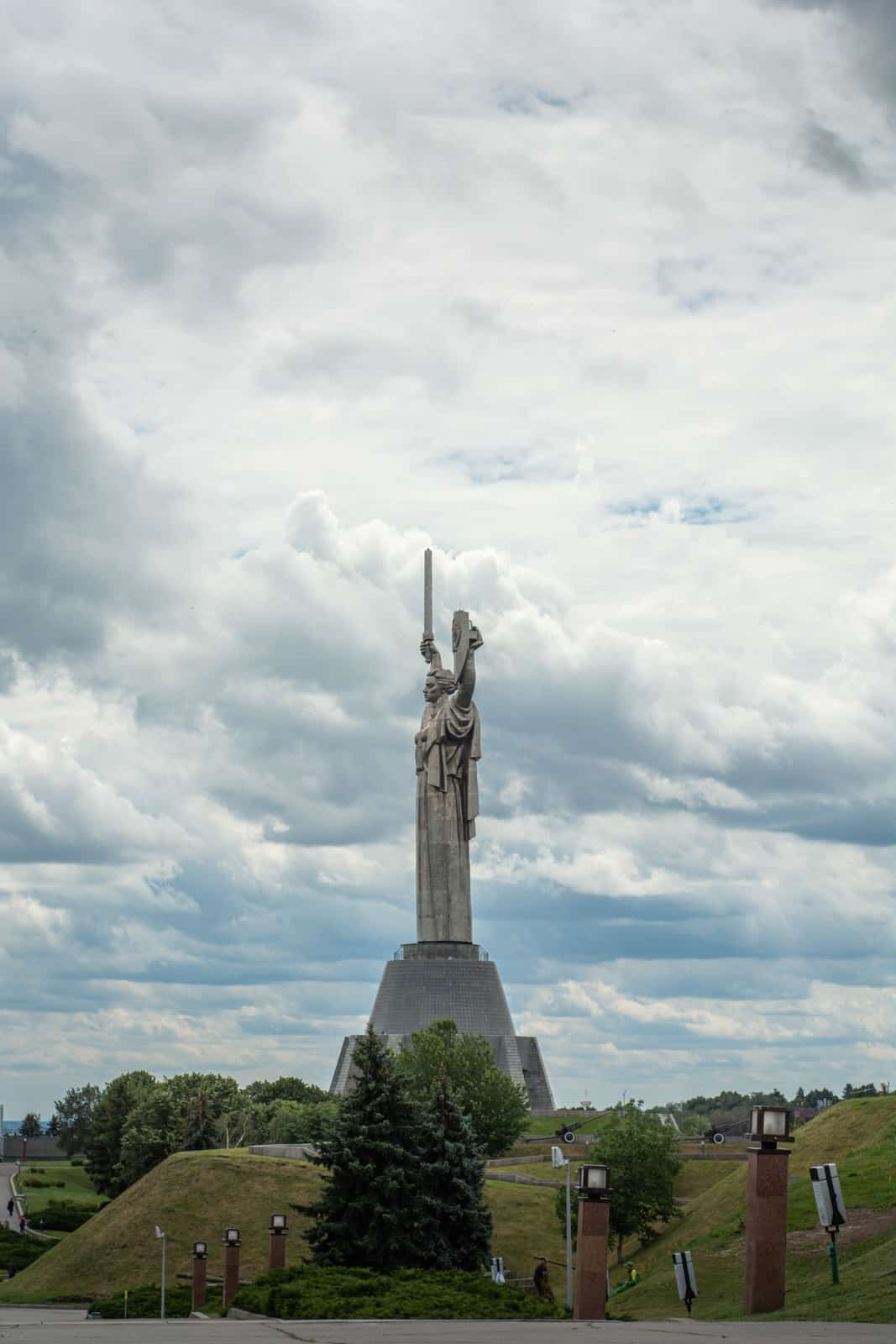The Motherland monument in Kyiv, Ukraine