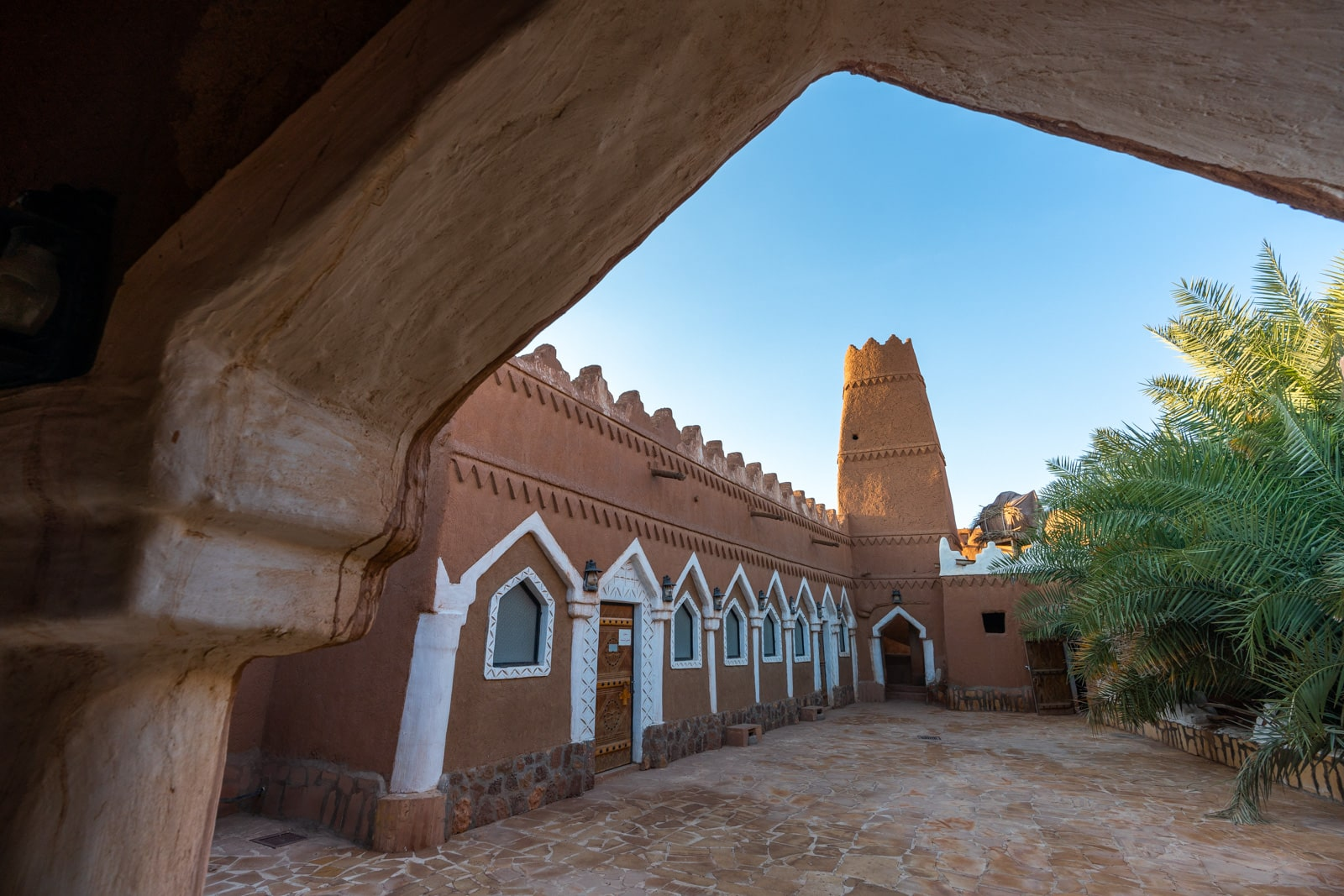 Mosque in Ushaiger village, Saudi Arabia