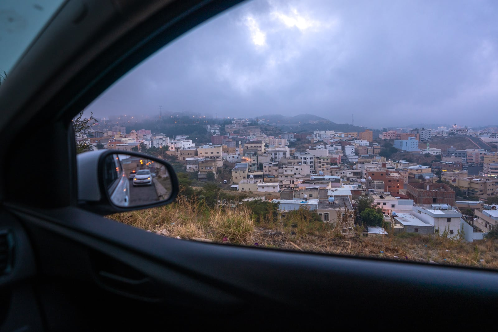 View of Abha from car in Saudi Arabia