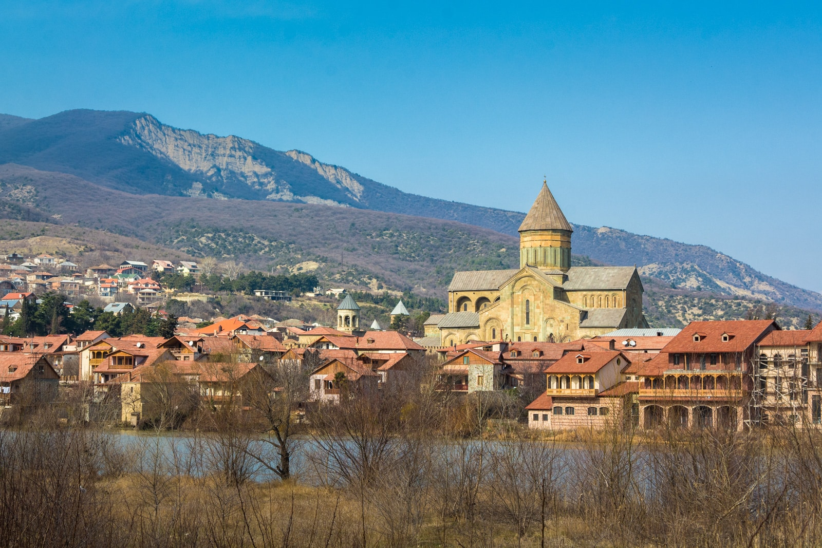 View of Mtskheta, Georgia, across the river
