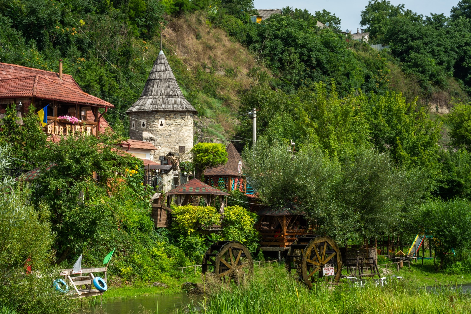Carpathian village in Ukraine
