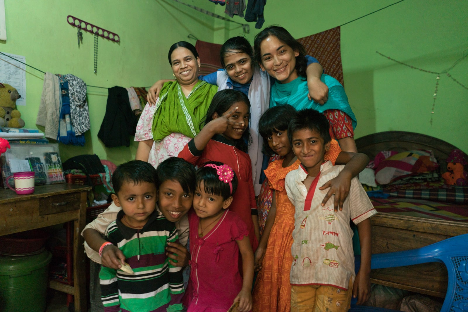 With a family in Dhaka, Bangladesh