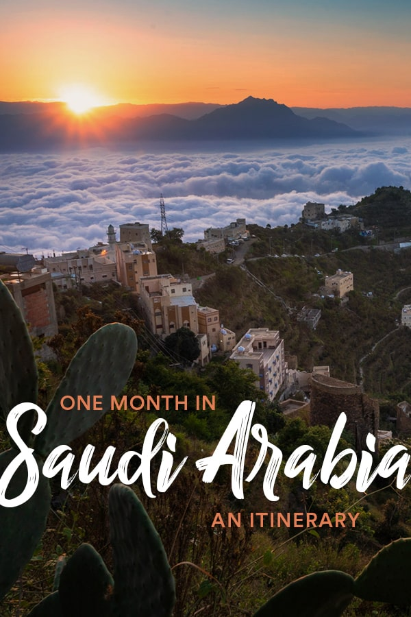 Planning a trip to Saudi Arabia, an off the beaten track Middle East country? Let this one-month Saudi Arabia itinerary be your guide! This detailed itinerary includes the best places to visit in Saudi Arabia, tips on where to stay in Saudi Arabia, top sights in the country, advice on traveling Saudi Arabia by car, and more. Click through for the most detailed Saudi Arabia itinerary you'll find on the internet. #SaudiArabia #MiddleEast #Itinerary