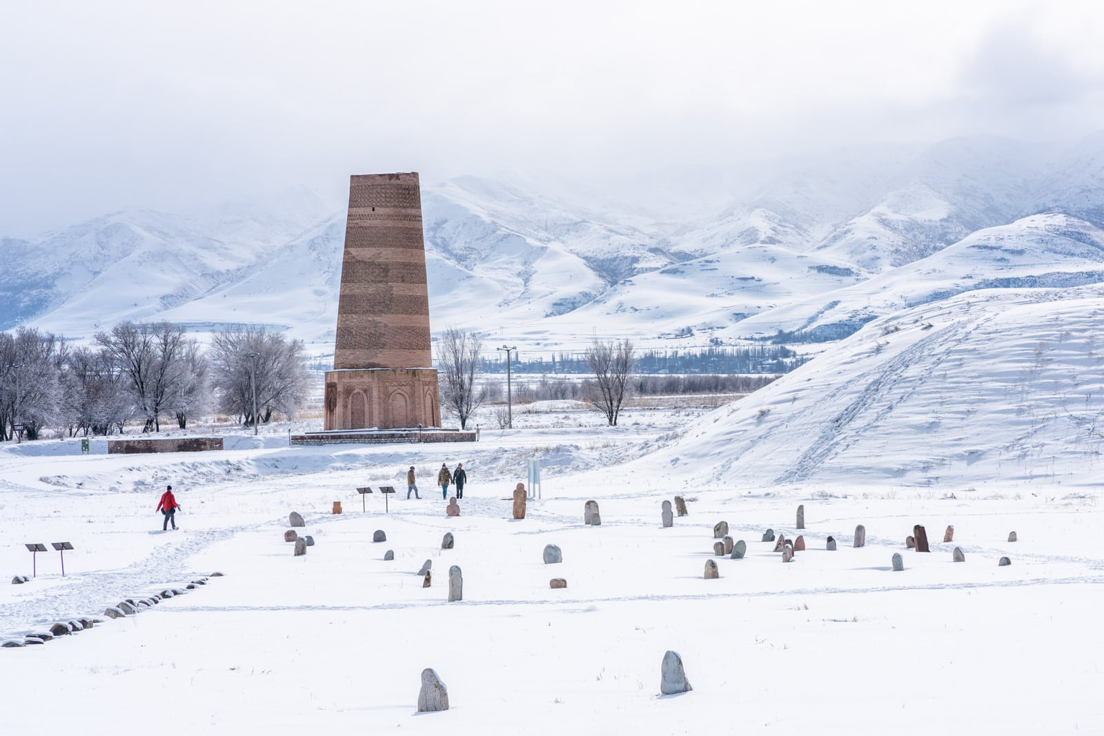 Kyrgyzstan's Burana tower in winter