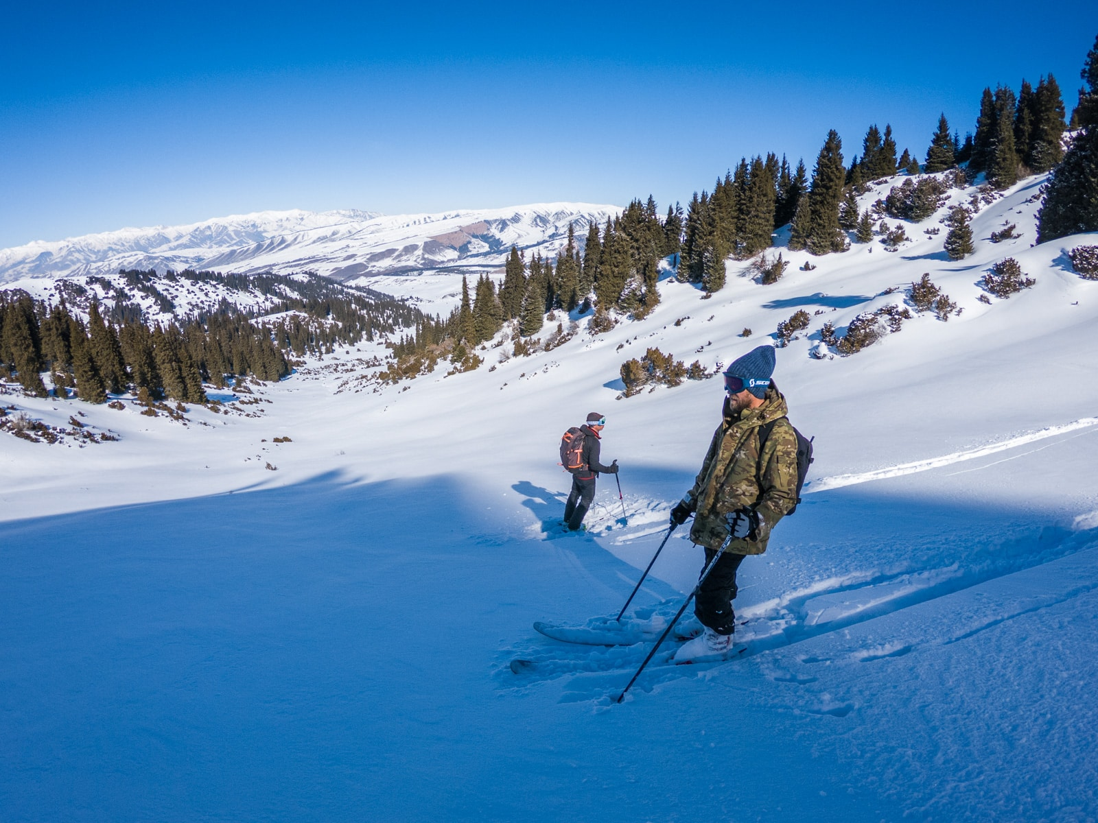 Backcountry skiing in Jyrgalan, Kyrgyzstan