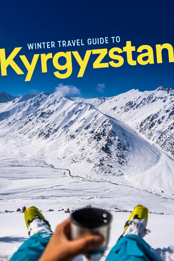 Want an offbeat winter destination? Consider Kyrgyzstan in Central Asia! Kyrgyzstan has all kinds of winter travel activities, from backcountry skiing and snowboarding to horse treks and yurt stays in the snow! Click through for a massive travel guide to Kyrgyzstan in winter to help you plan your trip. #CentralAsia #Kyrgyzstan #WinterTravel #Skiing