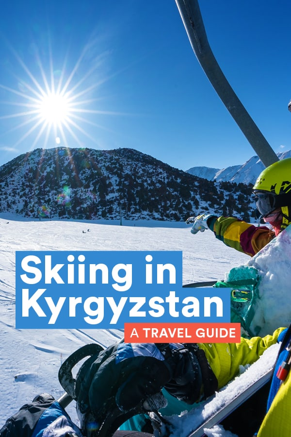 Kyrgyzstan in Central Asia is an epic off the beaten track destination for skiing and snowboarding. With cheap ski resorts suitable for every skill level and untouched backcountry with fresh powder all winter long, Kyrgyzstan is the ultimate ski destination you've never heard of. This guide has everything you need to know about skiing in Kyrgyzstan, including best ski accommodation, ski rental in Kyrgyzstan, best places to ski in Kyrgyzstan, and more. Read on for everything you need to know to plan your trip! #Skiing #Snowboarding #Kyrgyzstan #CentralAsia