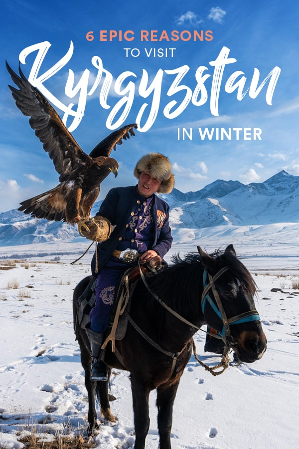 Kyrgyzstan is an off the beaten track destination on people's maps these days... but did you know you can travel Kyrgyzstan in winter, too? Winter in Kyrgyzstan is beyond beautiful; click through for six more reasons you need to travel to Kyrgyzstan and Central Asia in winter ASAP. #Kyrgyzstan #CentralAsia #winter