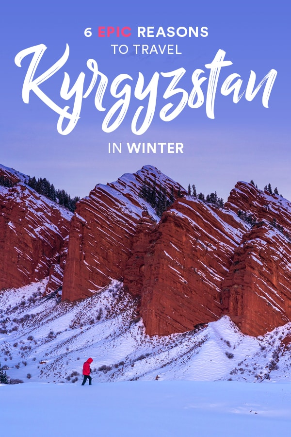 Traveling to Kyrgyzstan in winter is a must-do for anyone interested in an off the beaten track winter trip in Central Asia. From skiing to hot springs to horses in the snow, Kyrgyzstan has everything you need for an epic winter vacation. Read on for 6 epic reasons to travel Kyrgyzstan in winter. #Kyrgyzstan #CentralAsia #Winter