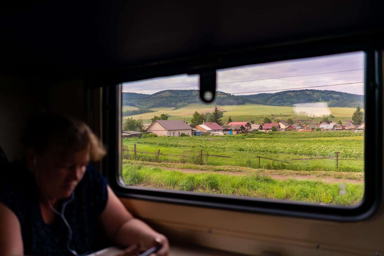 Russian woman on Trans-Siberian train