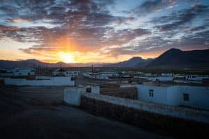 Sunrise over Murghab, Tajikistan