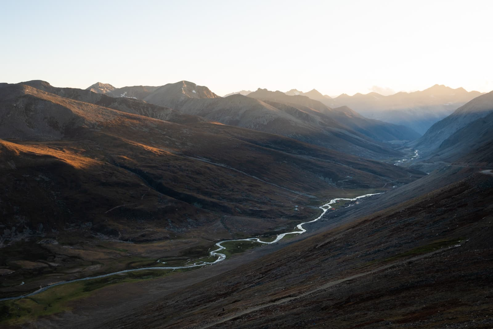 Sunset over Babusar Pass in Pakistan
